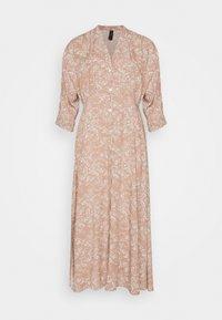 YASCORNA LONG DRESS - Vestido camisero - tawny brown