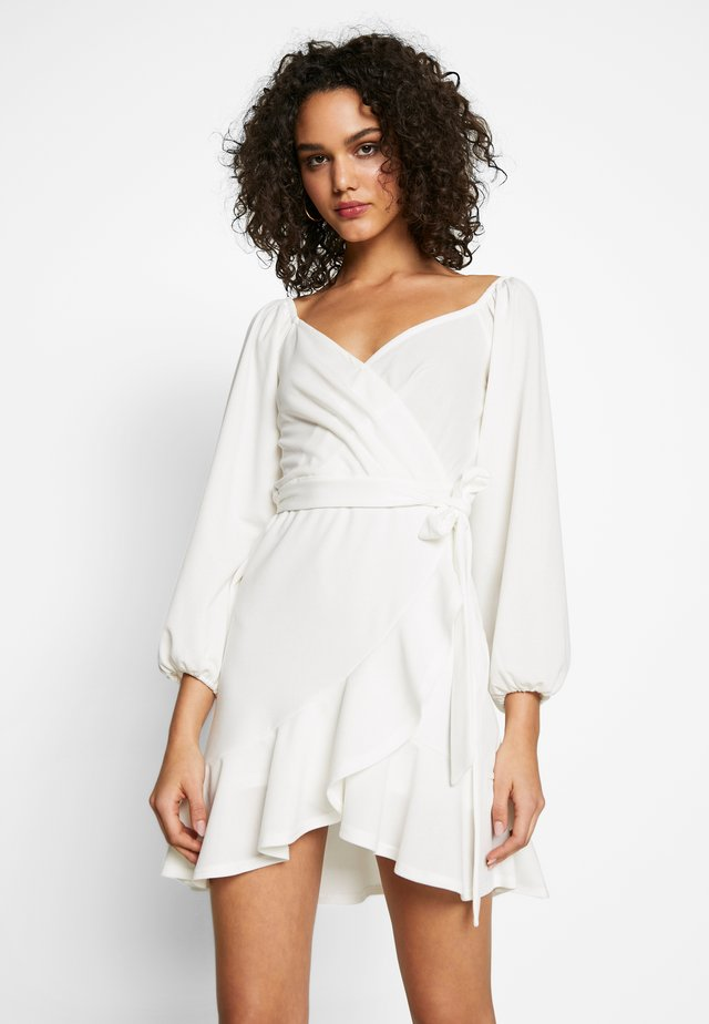 LOVLEY FRILL DRESS - Cocktail dress / Party dress - white