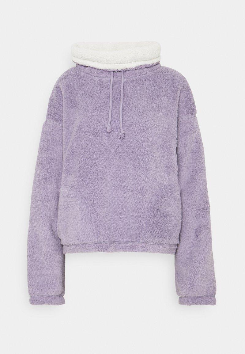 Hollister Co. - REVERSIBLE SHERPA - Fleece jumper - purple/grey