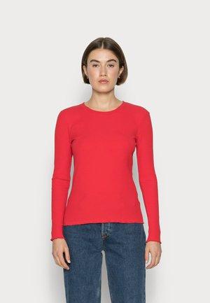 SLFANNA CREW NECK TEE - Top sdlouhým rukávem - true red