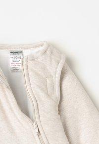 Jacky Baby - MIT ABNEHMBAREN ÄRMELN HELLO WORLD - Baby's sleeping bag - beige melange - 6