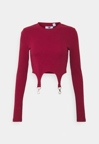 The Ragged Priest - LONGSLEEVE TOP TRIGGER STRAPS - Topper langermet - burgandy - 0