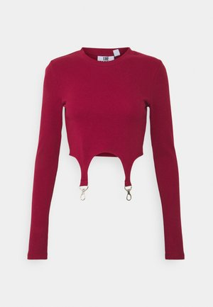 LONGSLEEVE TOP TRIGGER STRAPS - Long sleeved top - burgandy