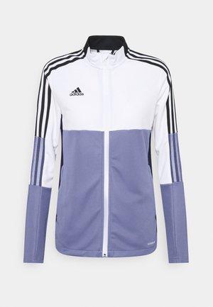 TIRO  - Treningsjakke - white/orbit violet