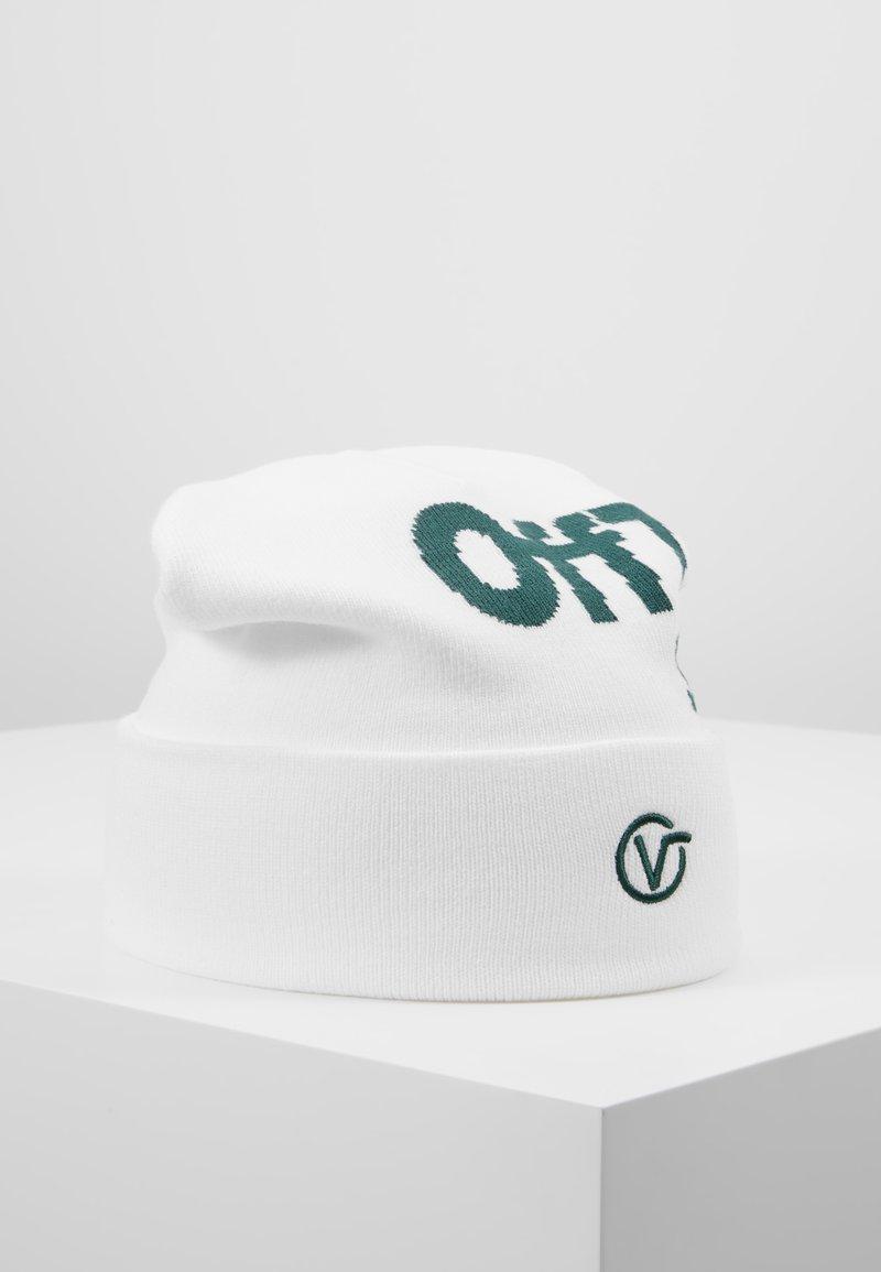 Vans - DISTORTED TALL CUFF BEANIE - Czapka - white/trekking green