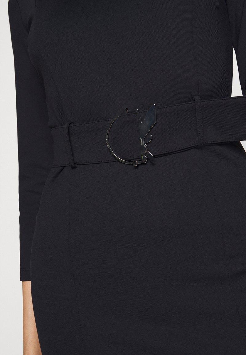 Patrizia Pepe LOGO BELT DRESS FLY - Etuikleid - nero/schwarz 4CTa8z
