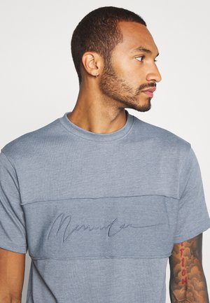 LOOPBACK RAWEDGEPANEL - T-shirt - bas - blue