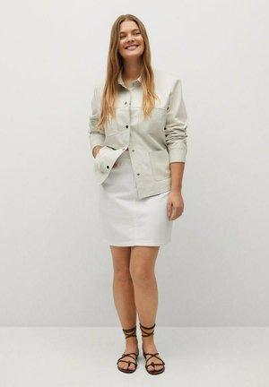 PAPIRO - Denim skirt - weiß