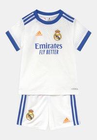 adidas Performance - REAL MADRID H BABY UNISEX - Klubové oblečení - white - 0