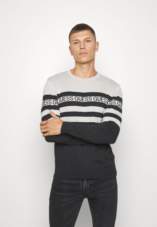 LOGO STRIPED - Maglione - grey