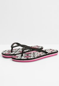O'Neill - MOYA  - T-bar sandals - black with purple - 1
