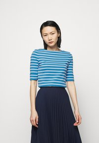 Lauren Ralph Lauren - T-shirt z nadrukiem - captain blue/white - 0