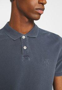 Marc O'Polo - SHORT SLEEVE RIB DETAILS - Polo shirt - total eclipse - 4