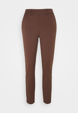 OBJLISA SLIM PANT - Trousers - chicory coffee