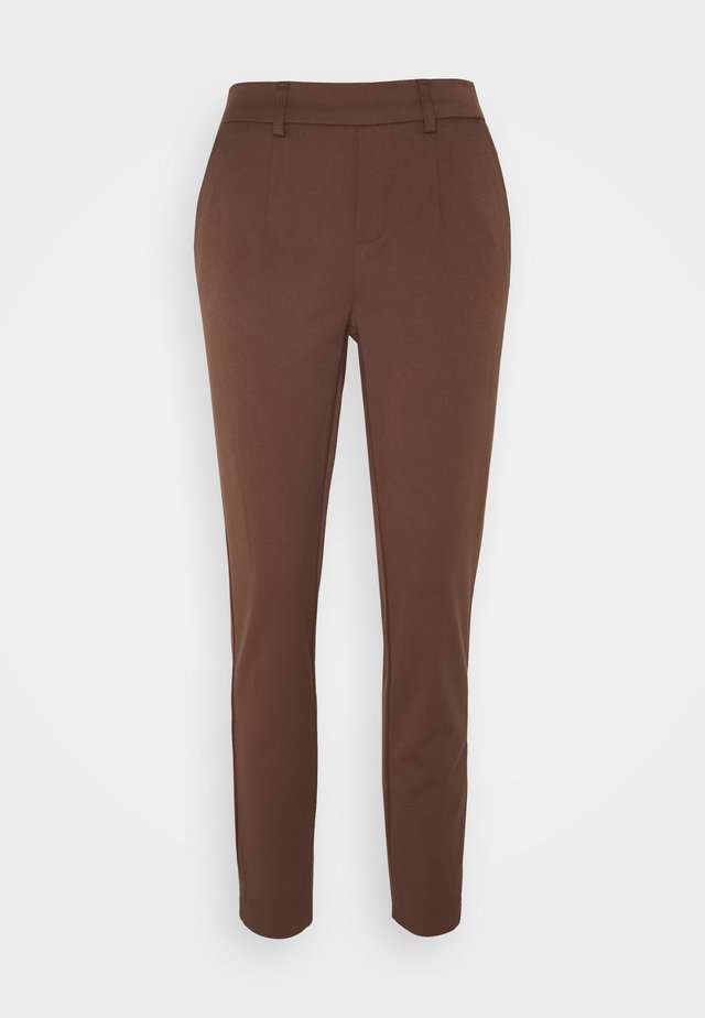 OBJLISA SLIM PANT - Bukse - chicory coffee