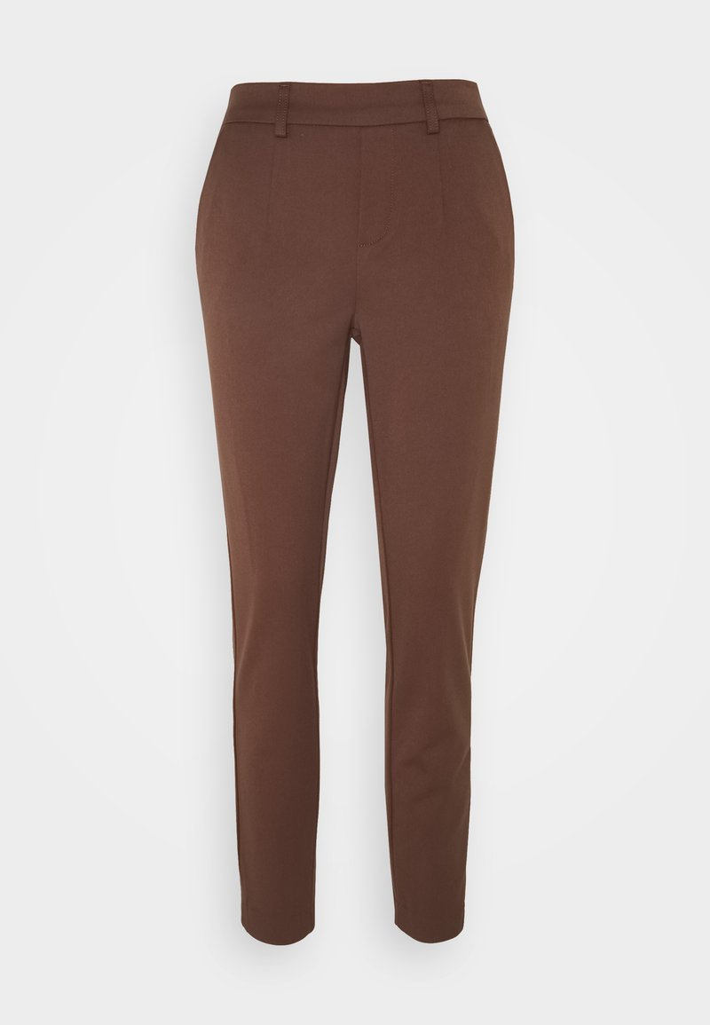Object Tall - OBJLISA SLIM PANT - Trousers - chicory coffee
