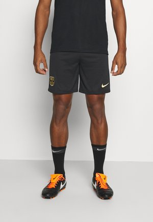 FC BARCELONA SHORT HA - Sports shorts - black/metallic gold