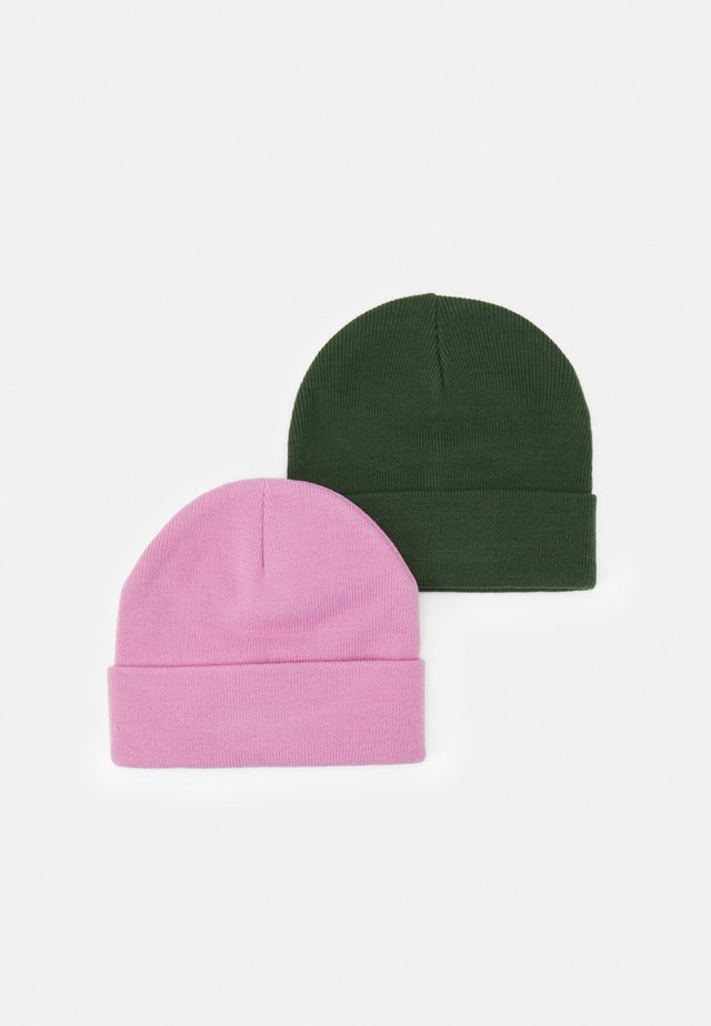 VMMARAN BEANIE 2 PACK - Bonnet - black forest/fuschia pink