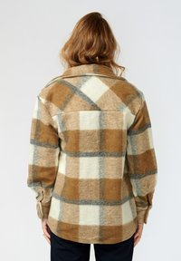 Noella - VIKSA - Short coat - camel black checks - 1