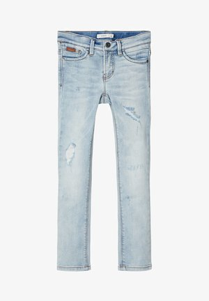 Straight leg jeans - light blue denim