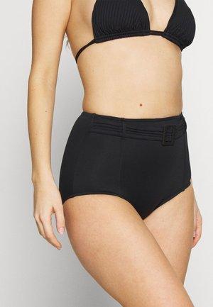 HIGH WAIST PANT PINTUCK BELT - Bikini bottoms - black