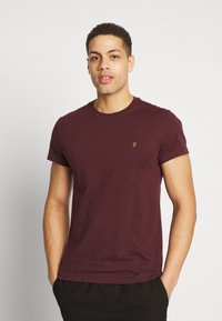 Farah - FARRIS TWIN 2 PACK - T-shirt basic - farah red marl/true navy - 1