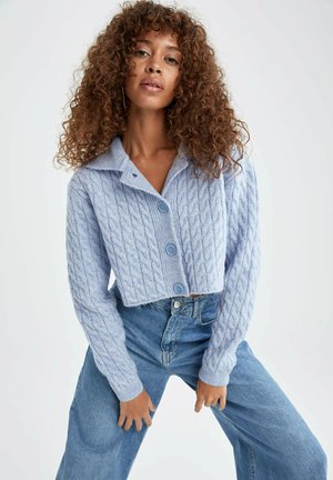 CROPPED FIT - Cardigan - blue