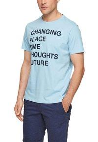 s.Oliver - Print T-shirt - light blue - 5