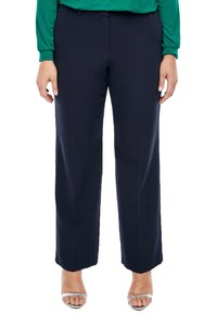 Triangle - REGULAR FIT: STRAIGHT LEG-HOSE - Trousers - navy - 4