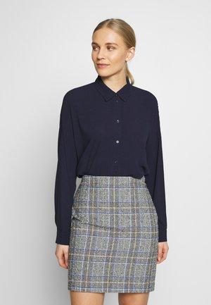 NEW SLUB - Button-down blouse - navy