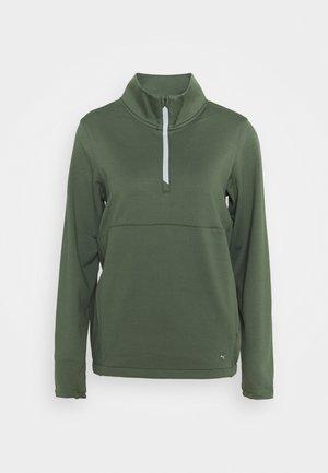 CLOUDSPUN ZIP - Fleece jumper - thyme