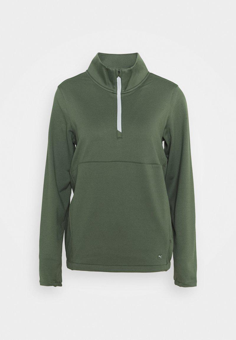 Puma Golf - CLOUDSPUN ZIP - Fleece jumper - thyme