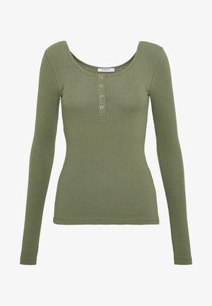 PCKITTE - Long sleeved top - deep lichen green