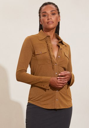 VERONICA - Button-down blouse - spiced honey