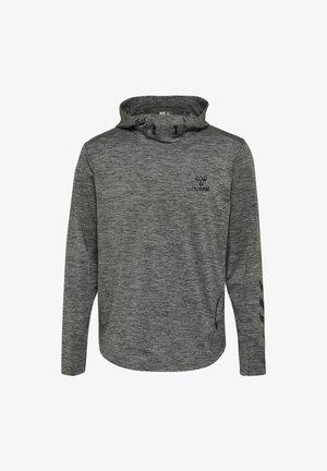 ASTON - Bluza z kapturem - dark grey melange