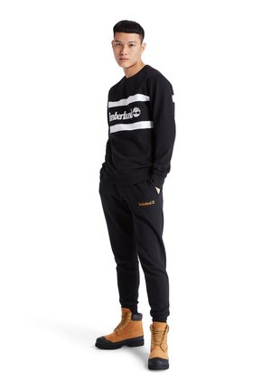 CUT AND SEW CREW - Sweatshirts - black