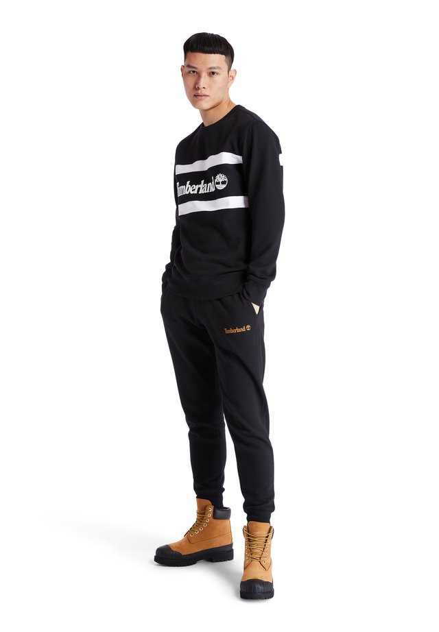 CUT AND SEW CREW - Collegepaita - black