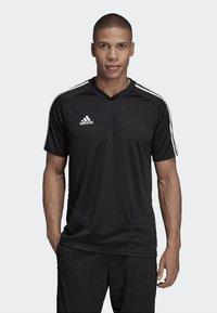 adidas Performance - TIRO 19 AEROREADY CLIMACOOL JERSEY - Print T-shirt - black - 0