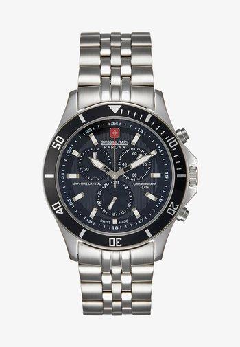 FLAGSHIP - Chronograph watch - silver-coloured/black
