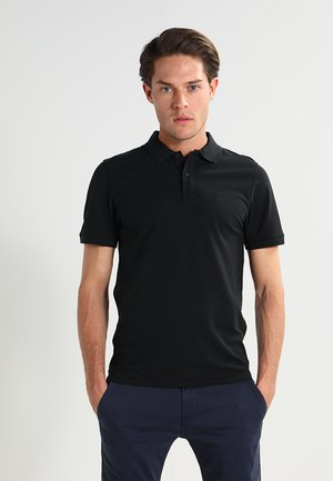 SLHARO EMBROIDERY - Polo shirt - black