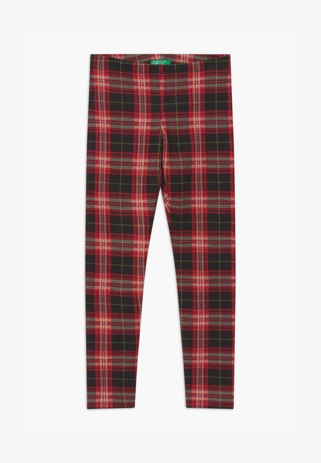 HARRY ROCKER - Leggings - Trousers - black/red