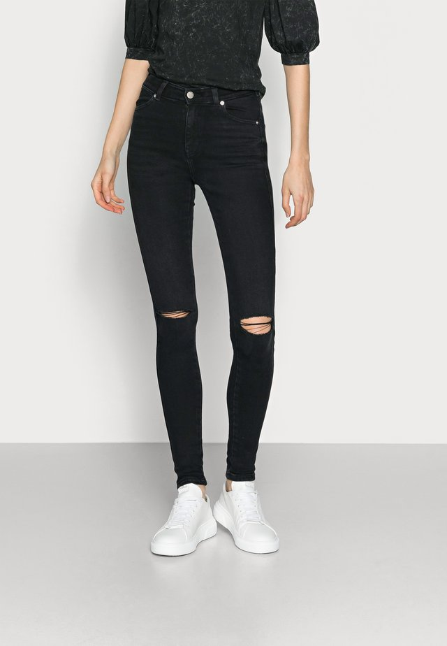 LEXY  - Jeans Skinny Fit - black mist ripped