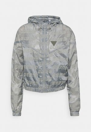 PACKABLE HOODED - Training jacket - lead grey