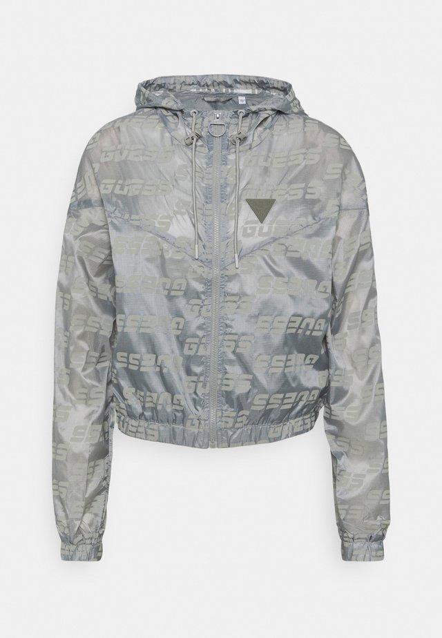PACKABLE HOODED - Veste de survêtement - lead grey