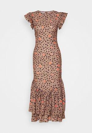 LEOPARD PRINT DRESS - Day dress - brown
