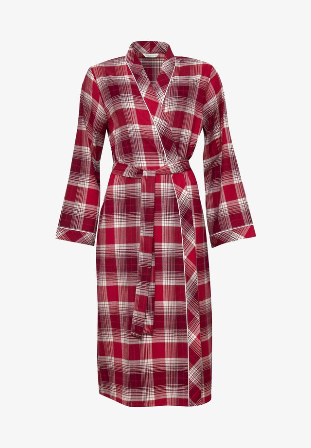 Dressing gown - red chks
