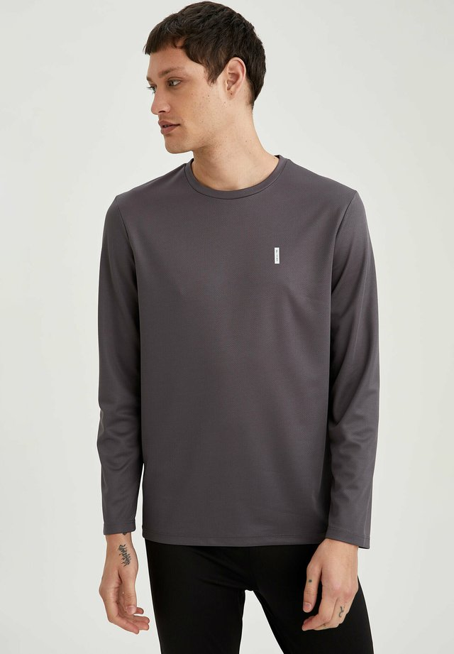 Langærmede T-shirts - anthracite