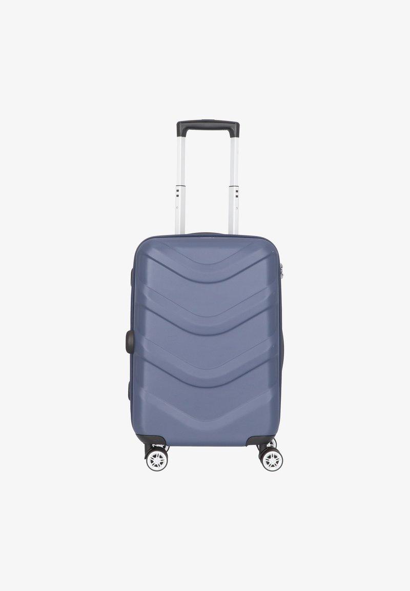 Stratic - ARROW 2 4-ROLLEN KABINENTROLLEY 55 CM - Wheeled suitcase - blue