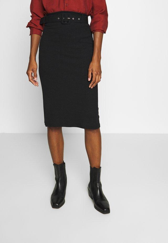 SIYAH - Pencil skirt - black