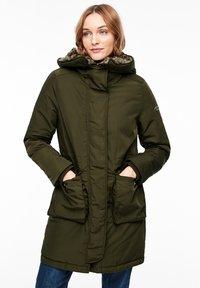 s.Oliver - MIT PLÜSCH-DETAILS - Winter coat - olive - 0